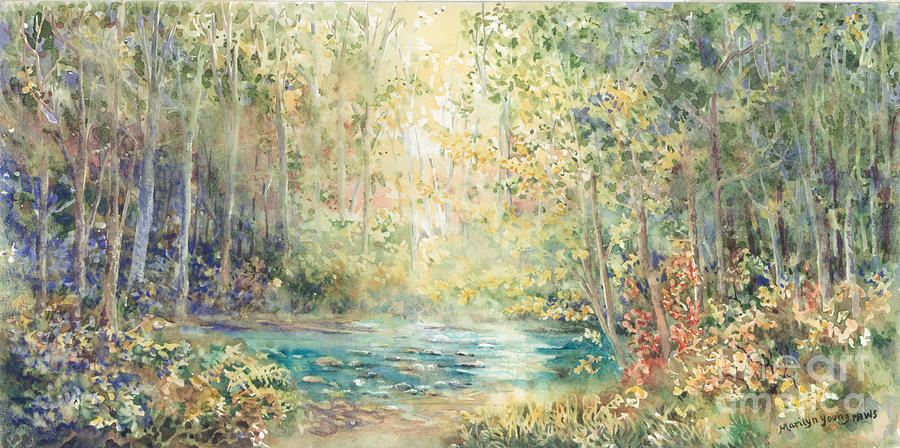 Landscape Painting - Creek Walk by Marilyn Young