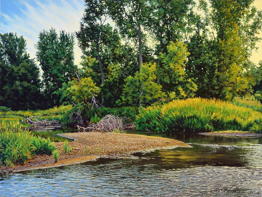 Landscape Painting - Creeks Bend by Bruce Morrison