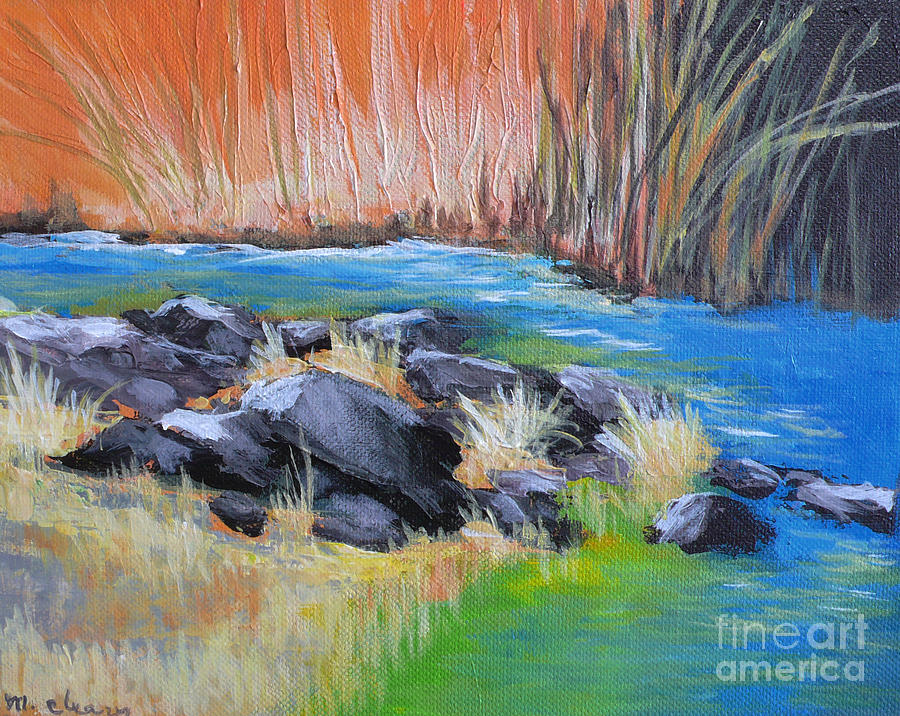 Landscape Painting - Creekside by Melody Cleary