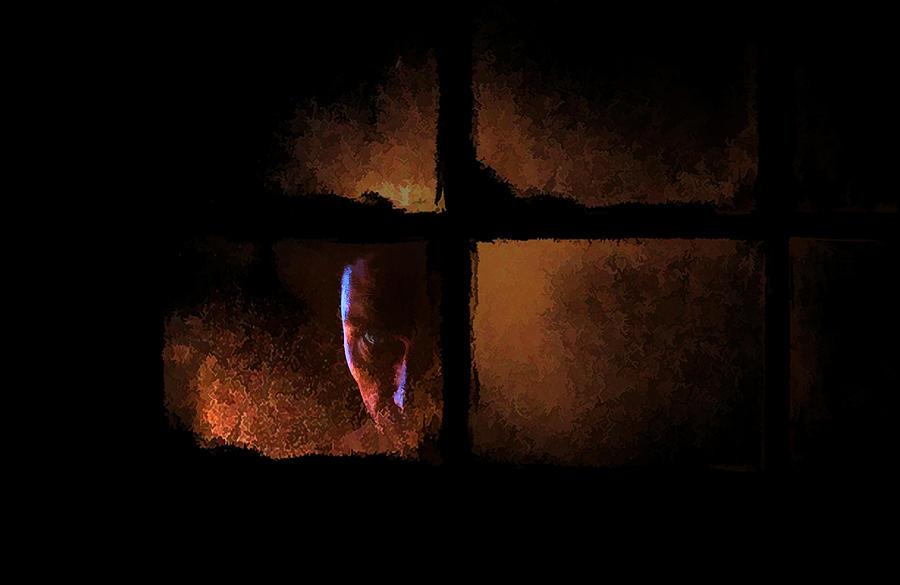 Sinister Digital Art - Creeper by Hazel Billingsley