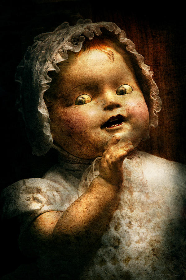 Doll Photograph - Creepy - Doll - Come Play With Me by Mike Savad