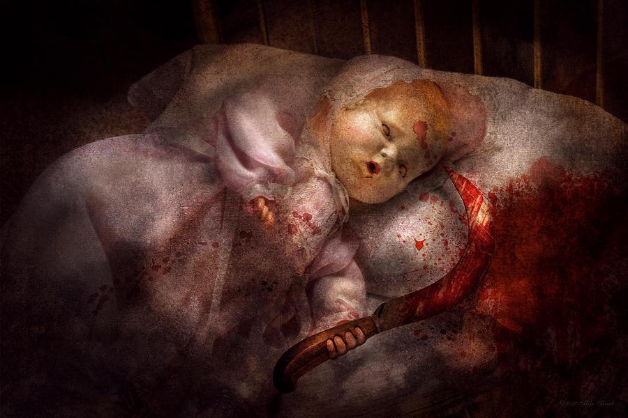 Doll Digital Art - Creepy - Doll - Night Terrors by Mike Savad