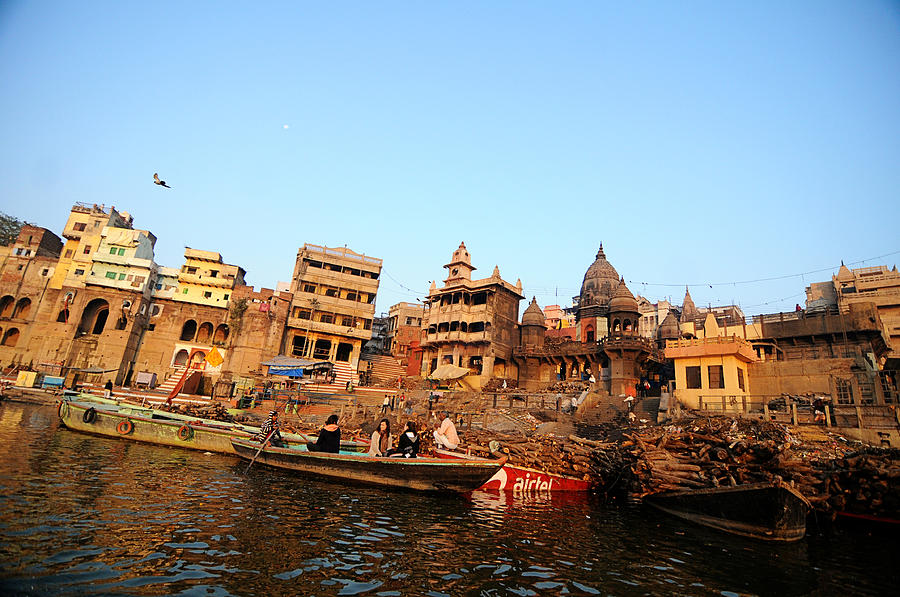 Cremation Photograph - Cremation Ghat Of Varanasi by Money Sharma