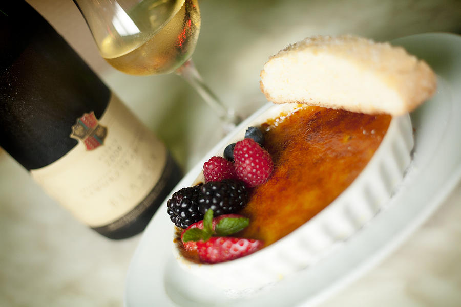 Food Photograph - Creme Brulee  by Shanna Gillette