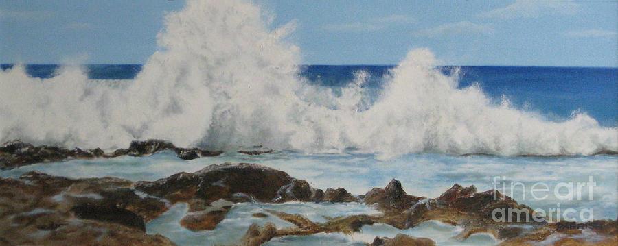 Seascape Painting - Crescendo - Oil by Parrish Hirasaki
