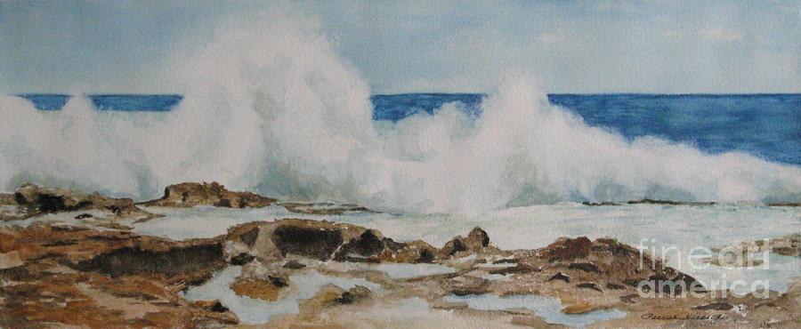 Seascape Painting - Crescendo - Watercolor by Parrish Hirasaki