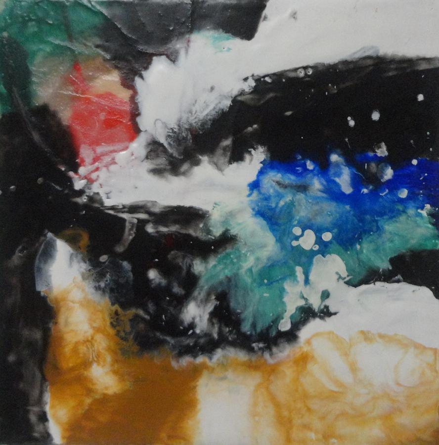 Encaustic Painting - Crescendo by Elaine Elliott