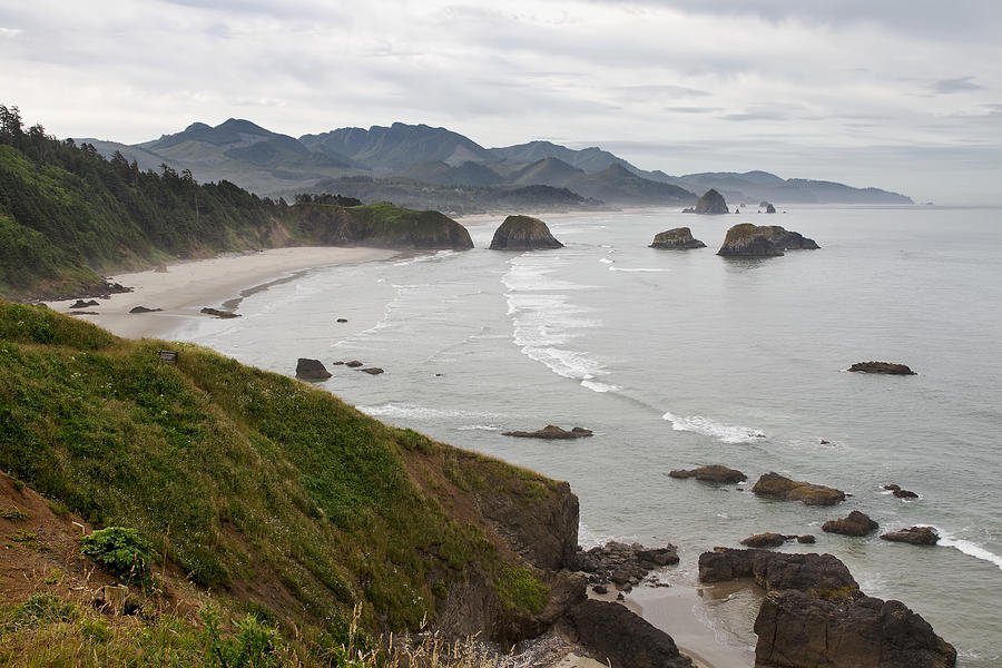 Crescent Photograph - Crescent Bay At Cannon Beach Oregon Coast by David Gn