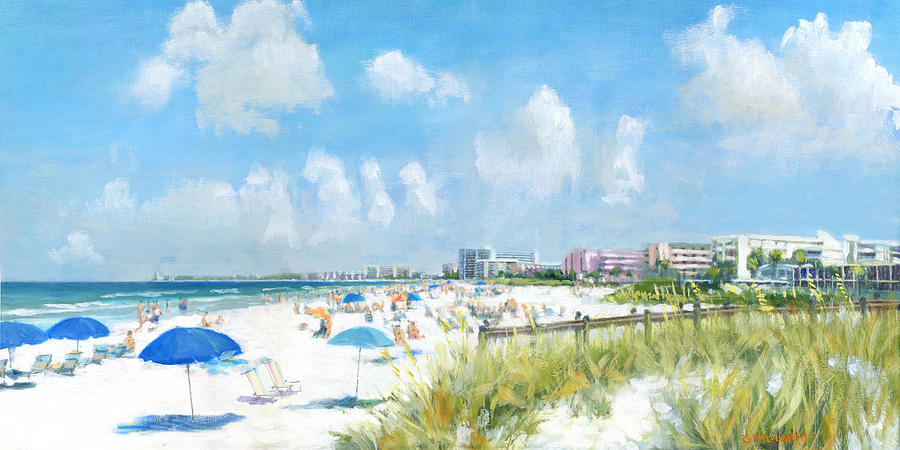 Crescent Beach Painting - Crescent Beach On Siesta Key by Shawn McLoughlin