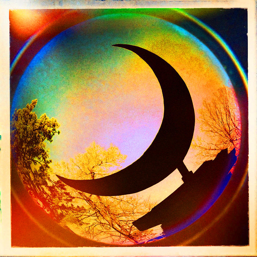 Crescent Moon Photograph - Crescent Moon Over Eureka Springs by Garry McMichael
