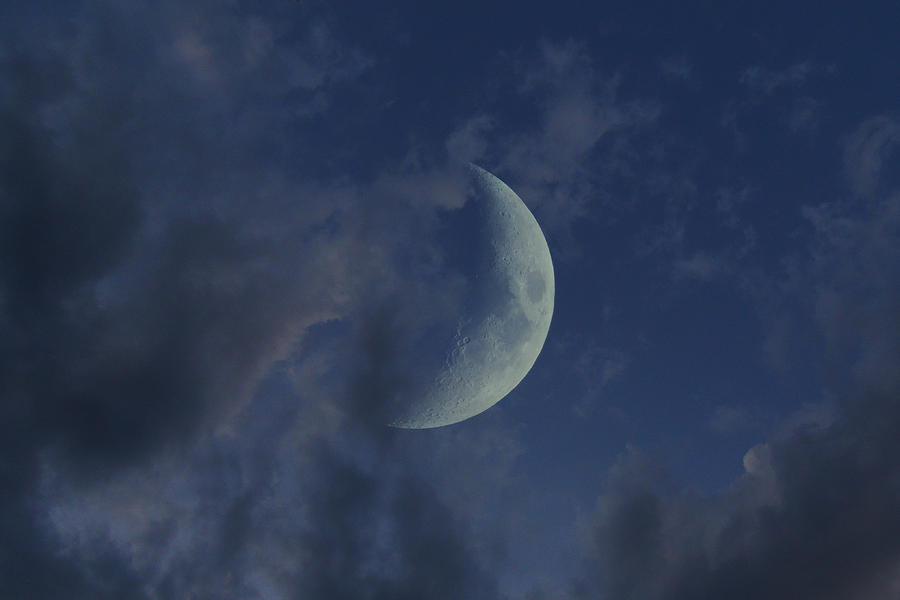 Cresecent Moon Photograph - Crescent Moon by Raymond Salani III