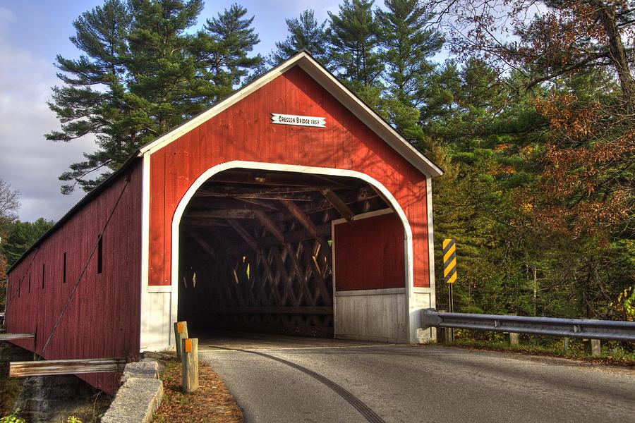 New Hampshire Photograph - Cresson Covered Bridge 2 by Joann Vitali