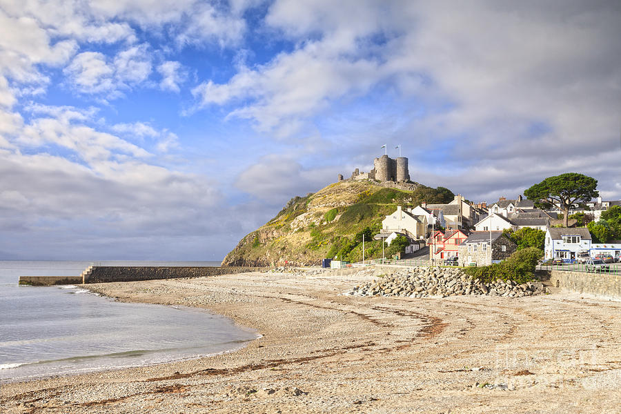 Beach Photograph - Criccieth Castle North Wales by Colin and Linda McKie