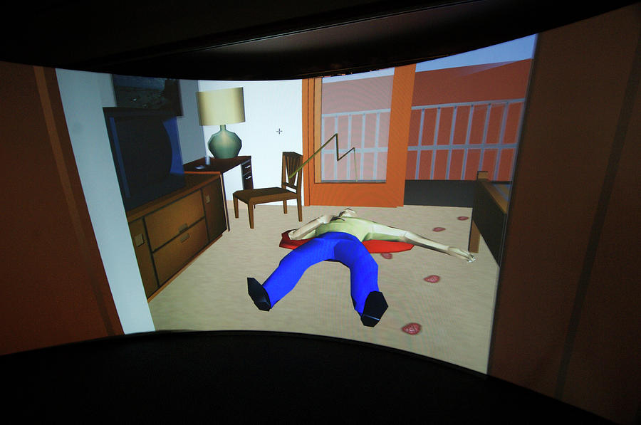 Computer Photograph - Crime Scene Reconstruction by Louise Murray/science Photo Library