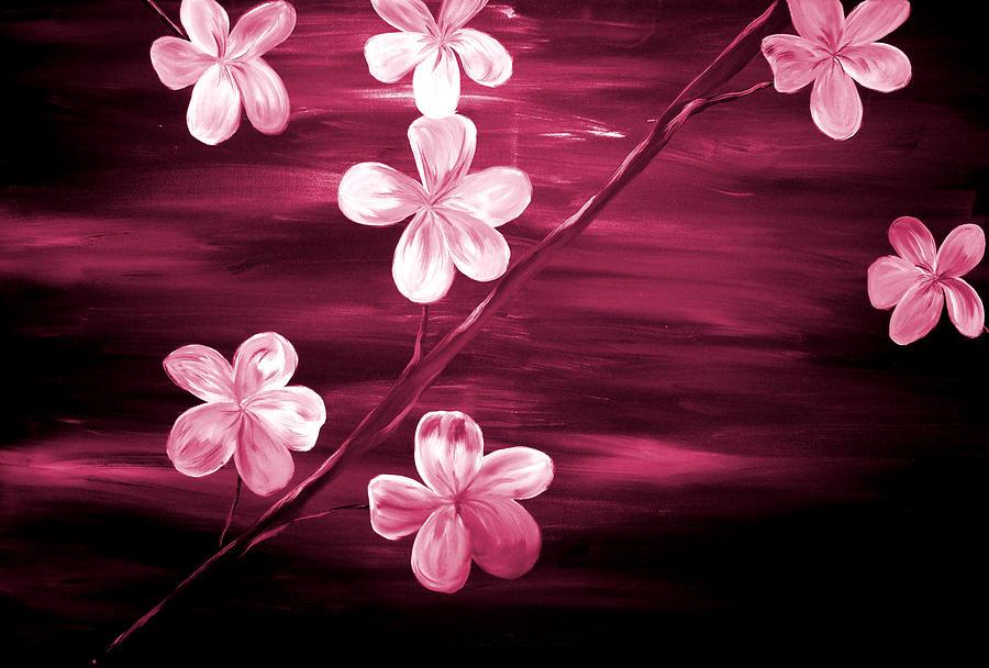 Mark Painting - Crimson Cherry Blossom by Mark Moore