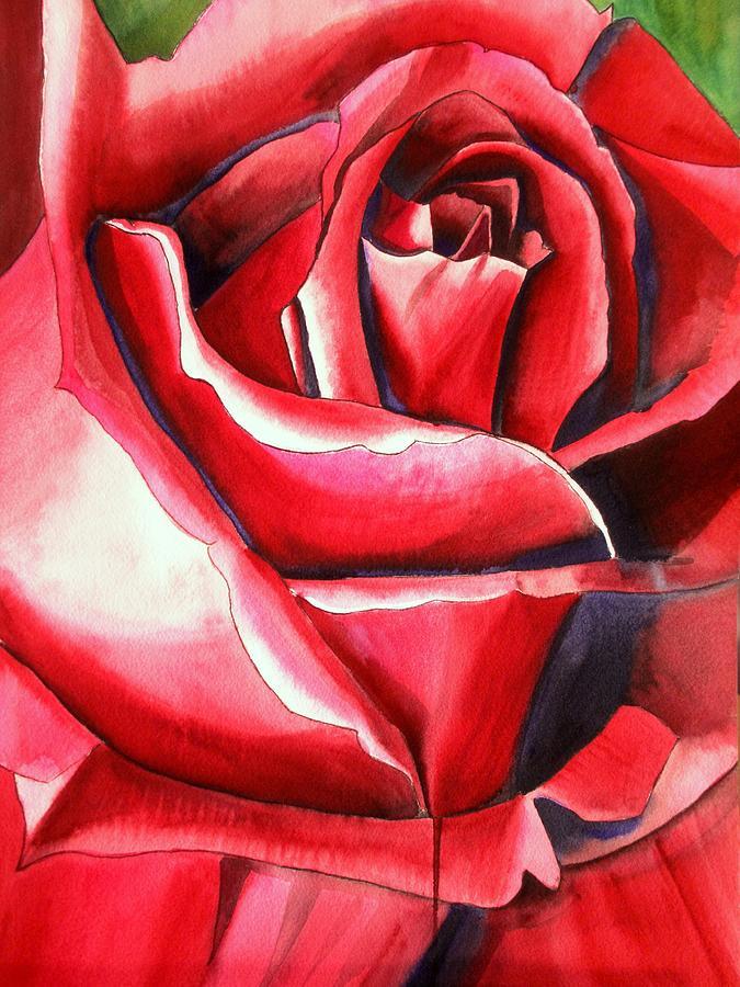 Rose Painting - Crimson Glory Rose by Sacha Grossel