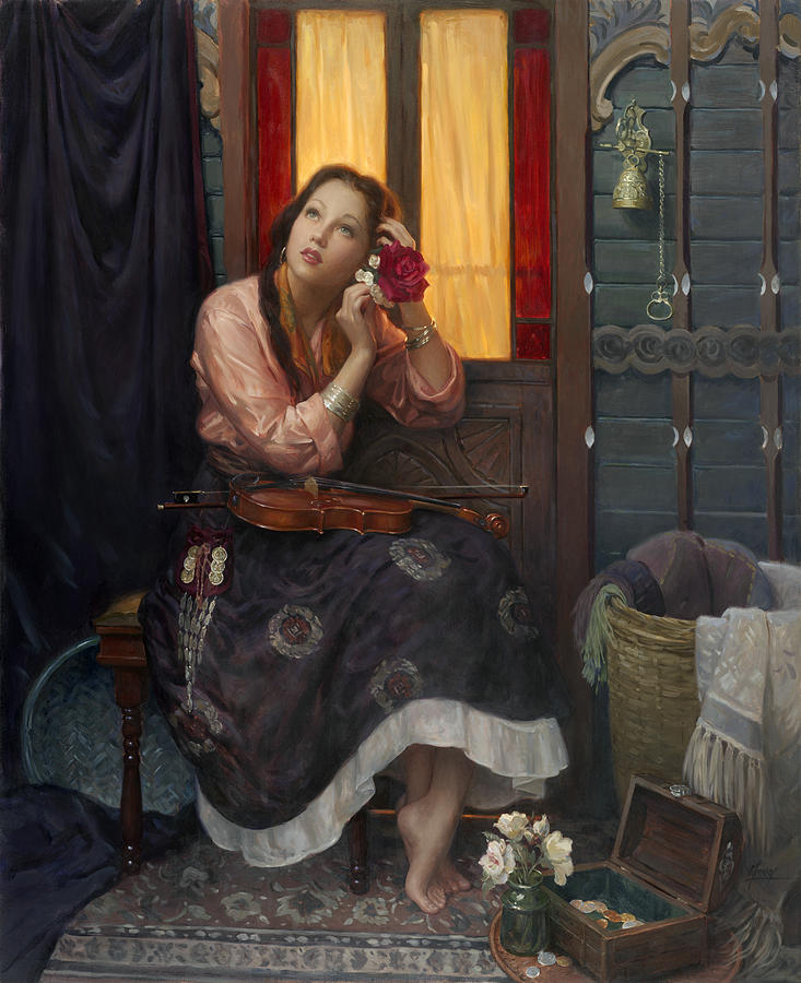 Crimson Rose Painting By Alan Murray