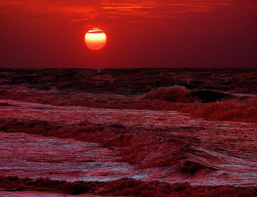 Crimson Tide Sunrise Digital Art By Michael Thomas
