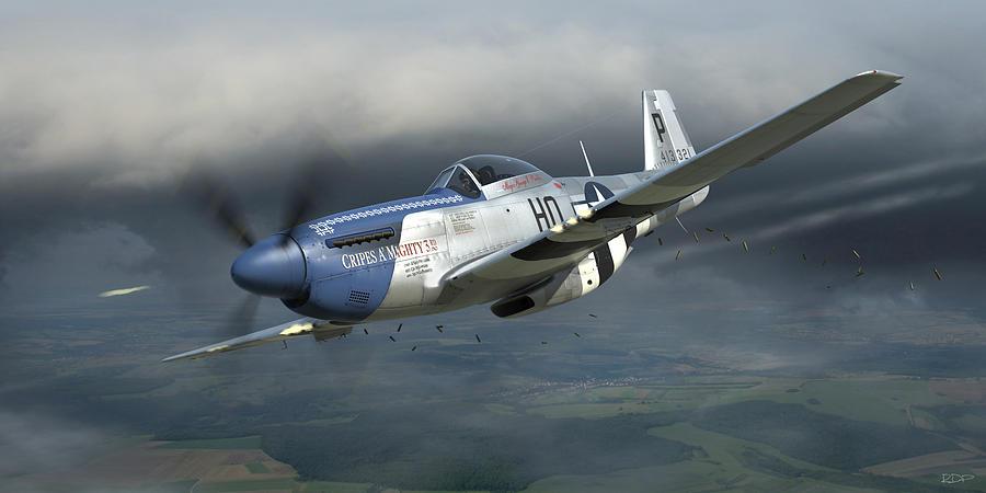 P 51 Mustang Art Cripes A'mighty 3rd Di...