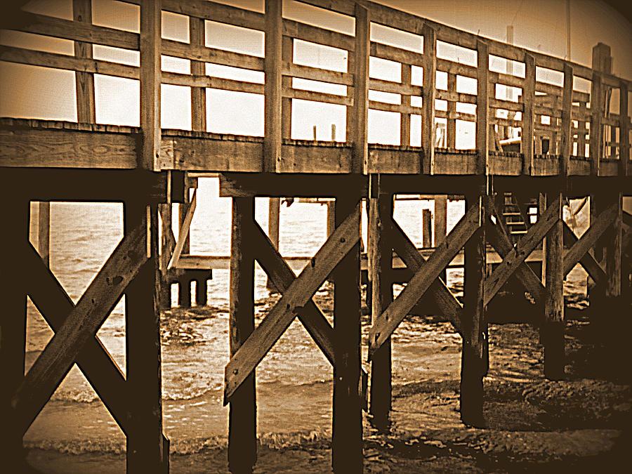 Boardwalk Photograph - Crisscross by Sheri McLeroy