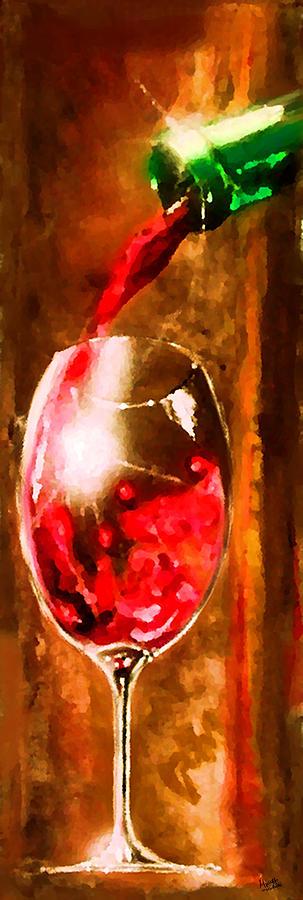 Vino Painting - Cristallo 2 by Marcello Cicchini