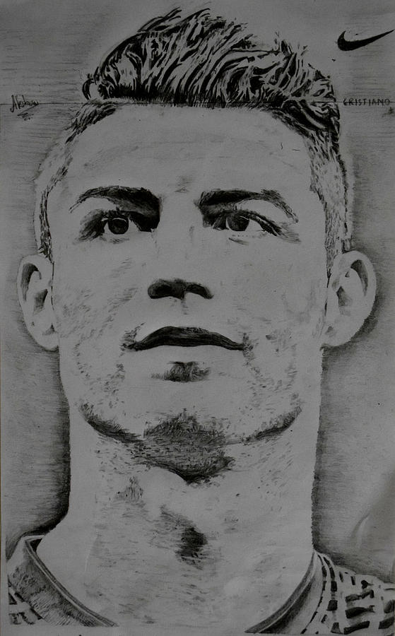 Cristiano ronaldo drawing by akshay kumar ms
