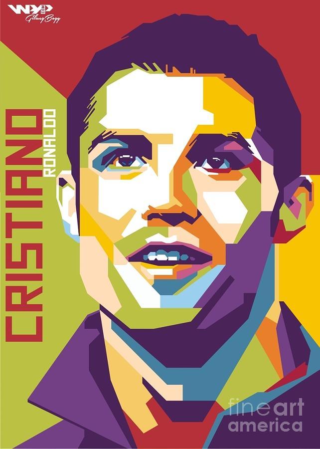 Cristiano Ronaldo In Wpap Digital Art By Gilang Bogy