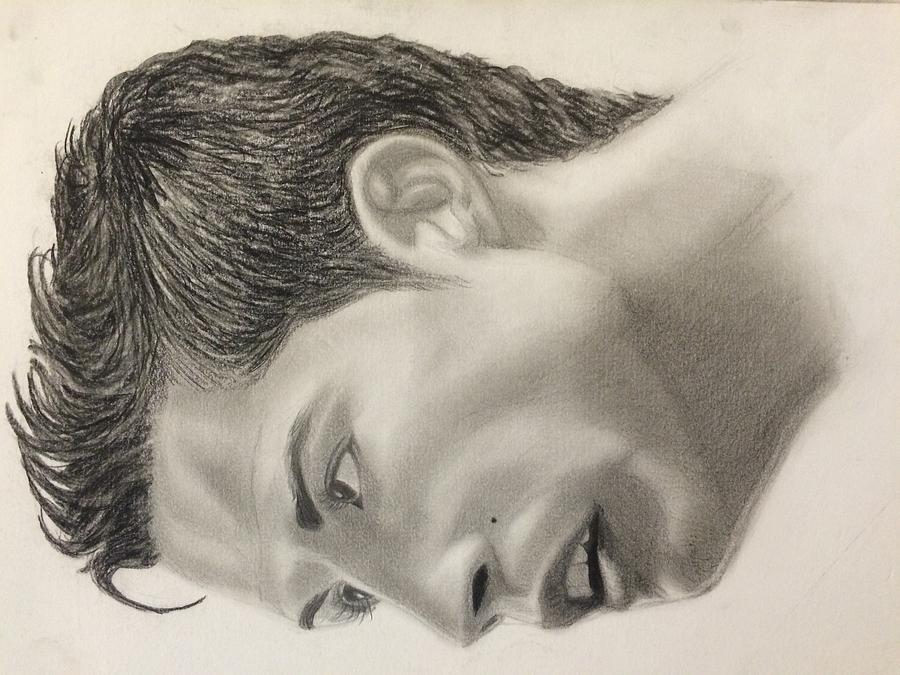 Cristiano Ronaldo Manchester United 2009 Drawing By Brian Morris