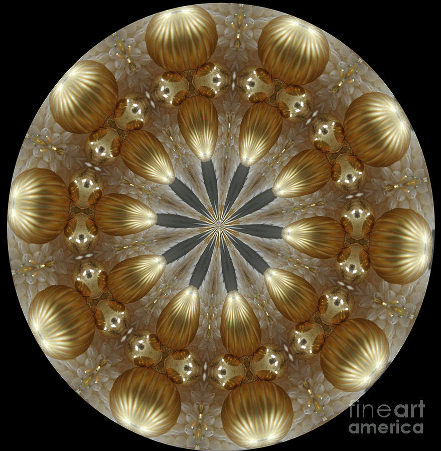 Kaleidoscope Photograph - Cristmas Decor by Lena Photo Art