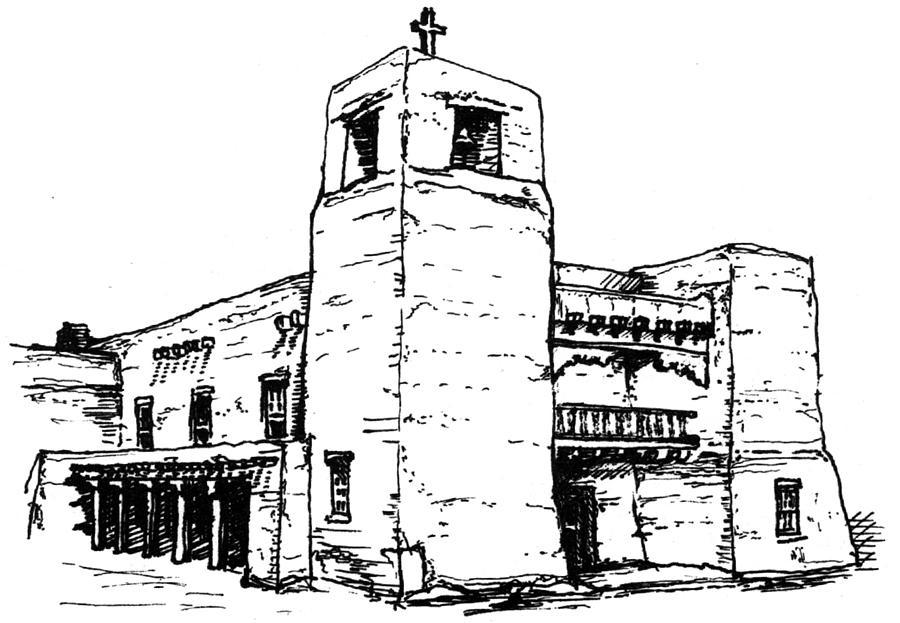 Cristo Rey Church Drawing