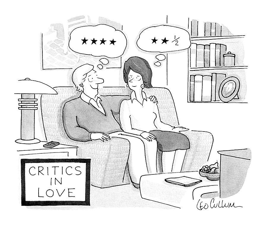 Vanity Drawing - Critics In Love by Leo Cullum