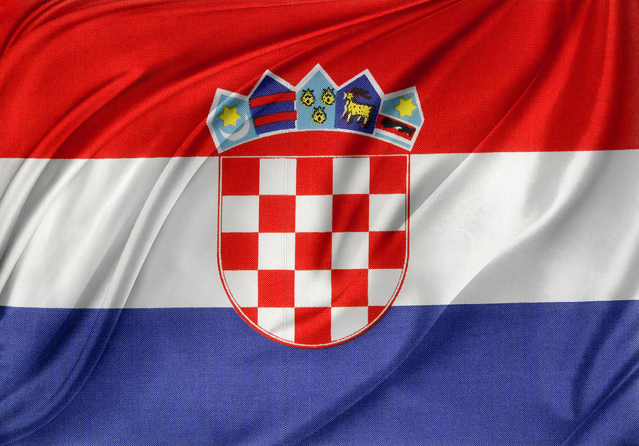 Banner Photograph - Croatian Flag by Les Cunliffe