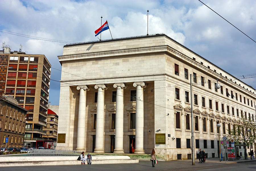 Bank Photograph - Croatian National Bank Zagreb by Borislav Marinic