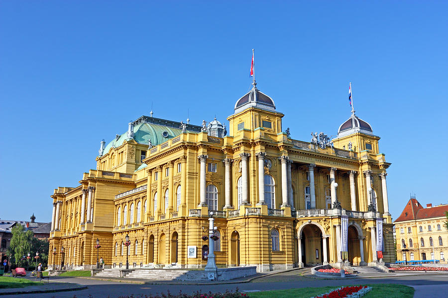 Croatia Photograph - Croatian National Theater In Zagreb by Borislav Marinic