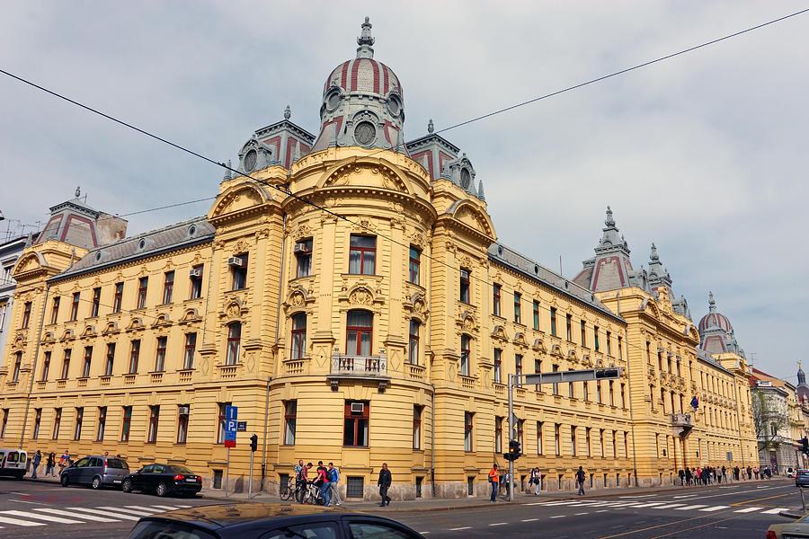 Croatia Photograph - Croatian Railways Administration Building In Zagreb  by Borislav Marinic