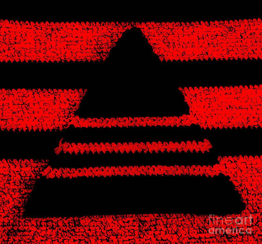 Pyramid Photograph - Crochet Pyramid Digitally Manipulated by Kerstin Ivarsson