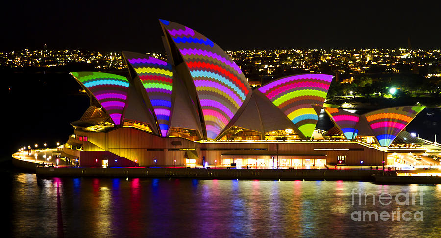 Sydney Photograph - Crochet Sails by Bryan Freeman