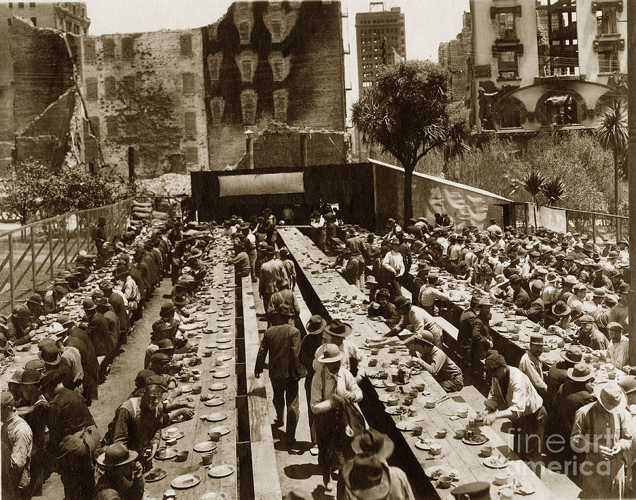 Crocker Restaurant Was In Union Square San Francisco 1906 Photograph