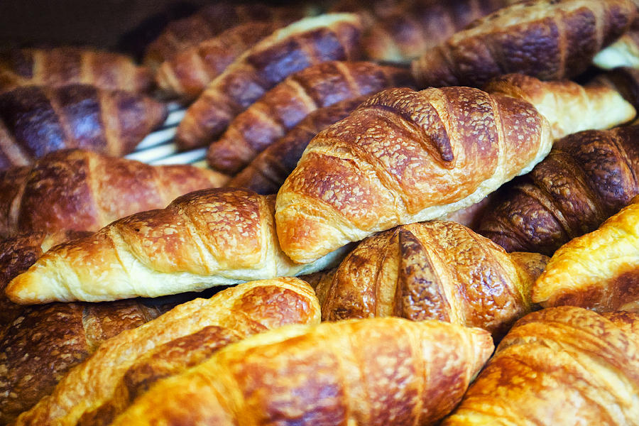 Pâtisseries Photograph - Croissants  by Tanya Harrison
