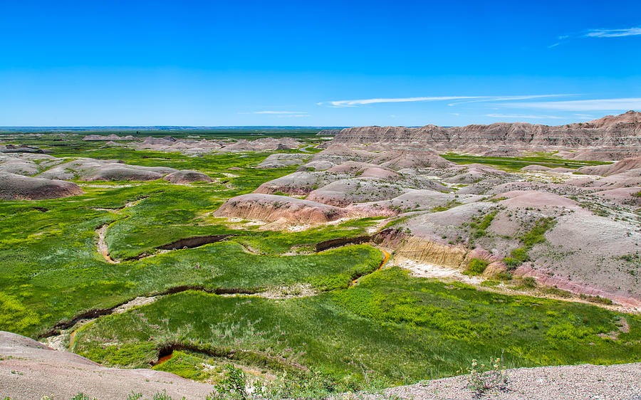 Crooked Creek at the Badlands by John M Bailey