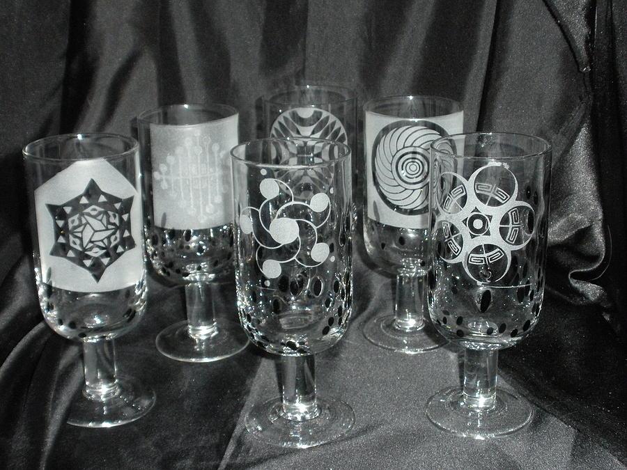 Crop Glass Art - Crop Circle Stems by Ralph Renick
