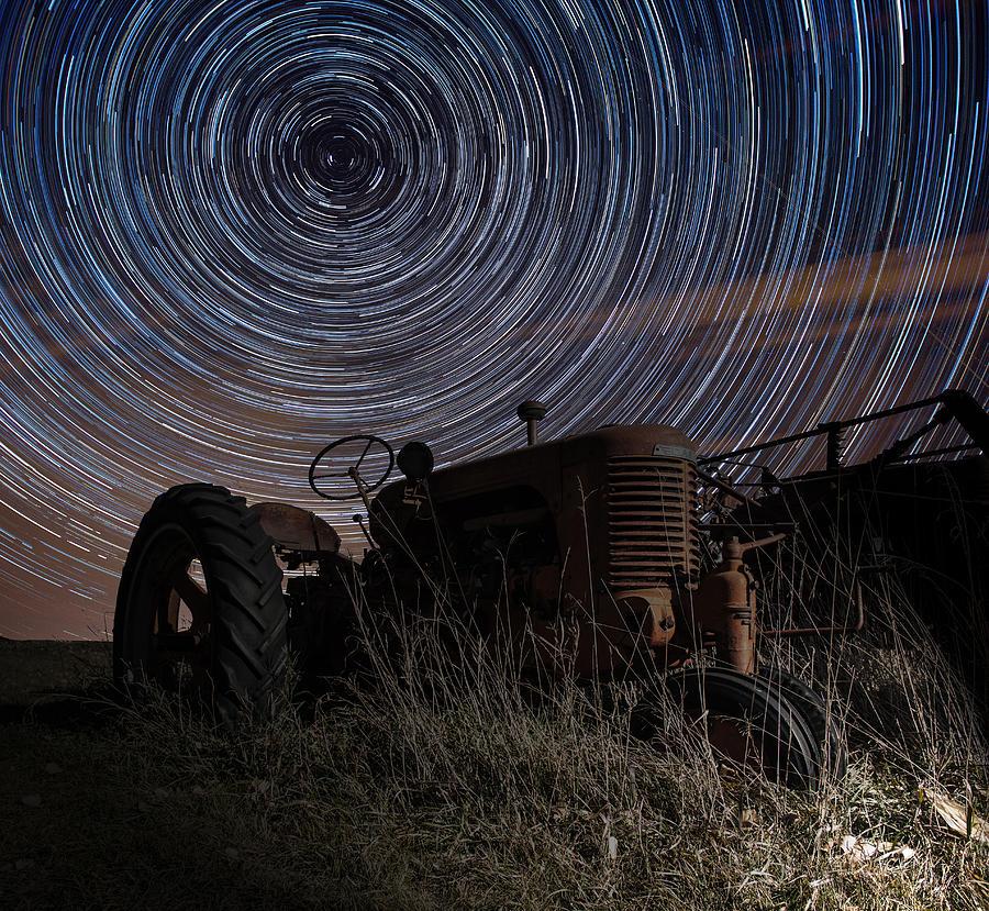 Tractor Photograph - Crop Circles by Aaron J Groen