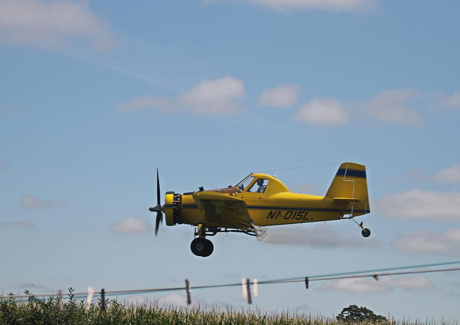 Sky Photograph - Crop Dusting by Victoria Sheldon