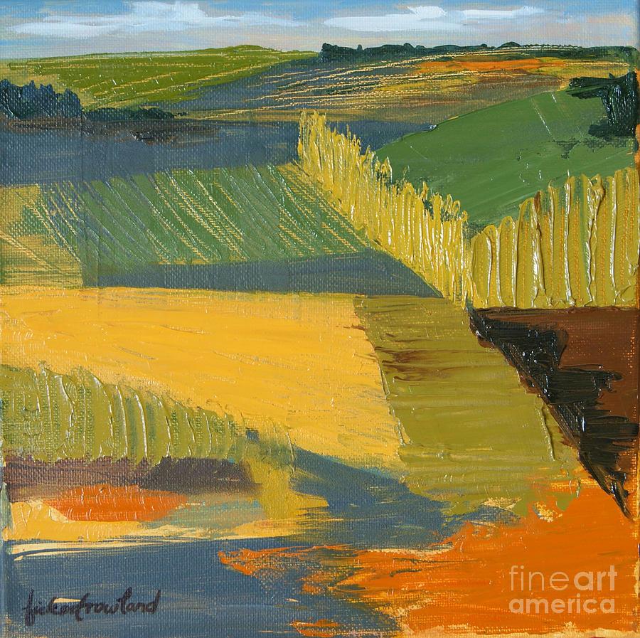 Farm Painting - Crop Fields by Erin Fickert-Rowland