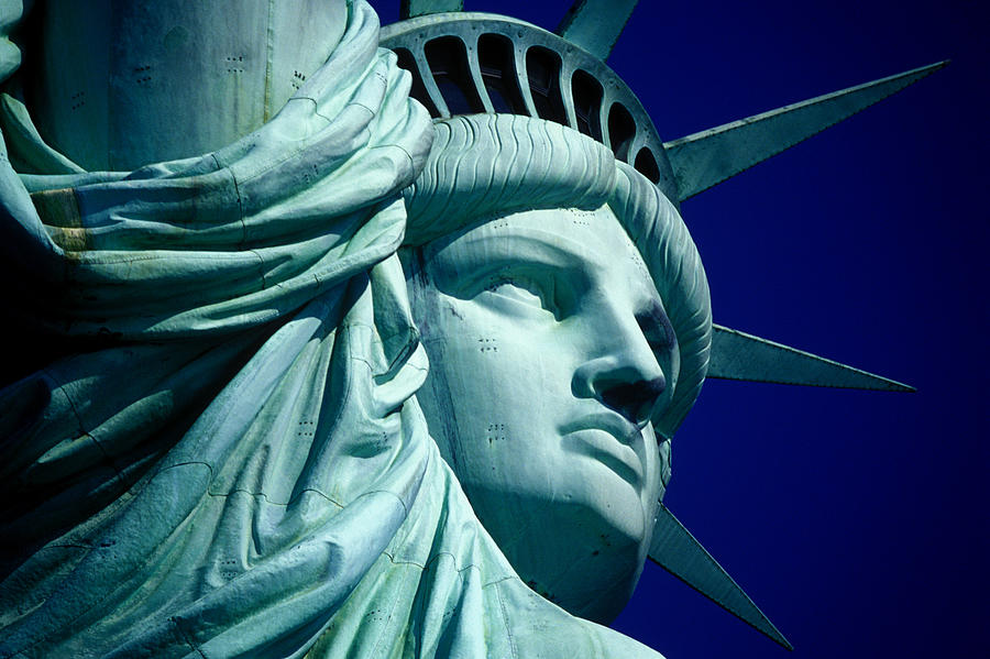 Cropped Image Of Statue Of Liberty Photograph by Frank Schiefelbein / Eyeem
