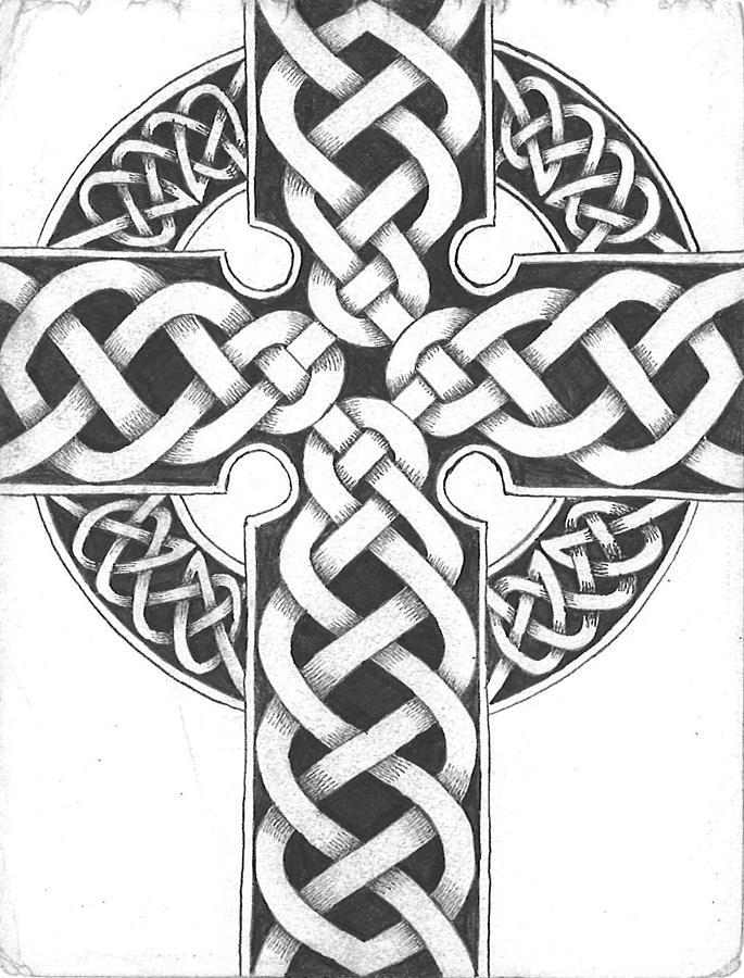 Line Drawing Cross : Celtic cross line drawing pixshark images