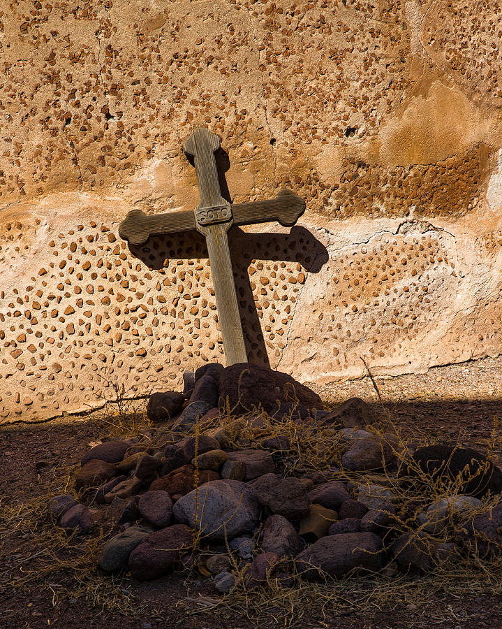 America Photograph - Cross at the Mission by Mark Hammon