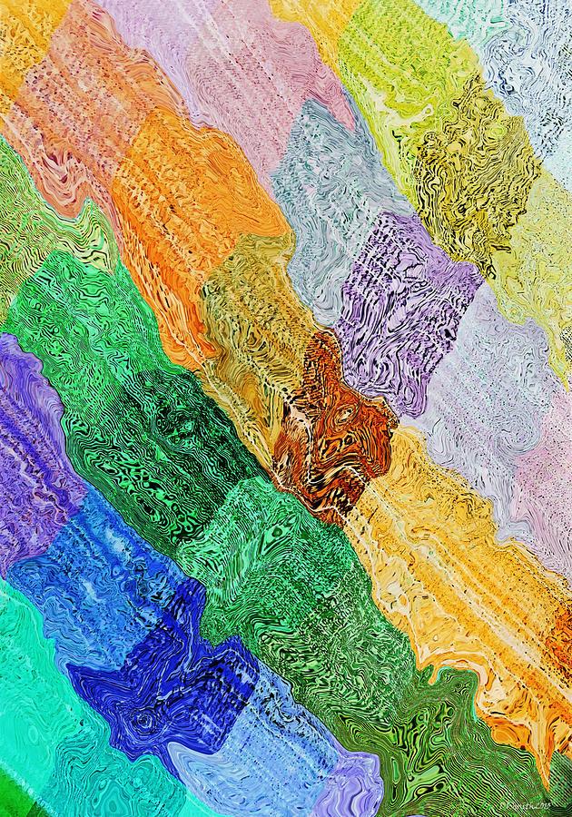 Abstract Digital Art - Cross Currents by Deborah Smith