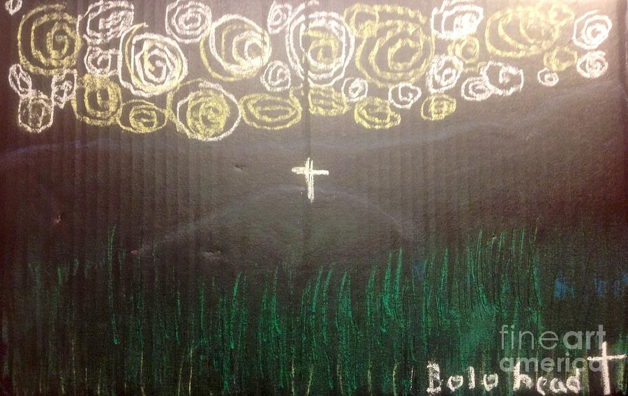 Easter Drawing - Cross On The Mountain by Willard Hashimoto