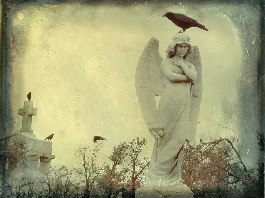 Gothic Crow Photograph - Cross Or Angel by Gothicrow Images
